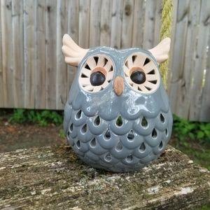 Other - Owl Grey Candle Holder Set